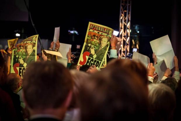 Socialdemokraternas valvaka 2014 Foto: Phil Jamieson