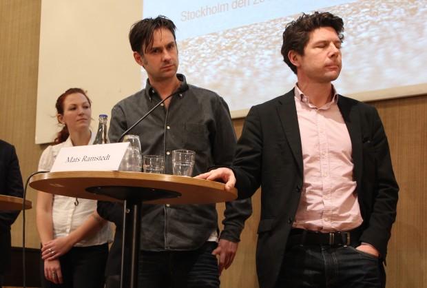 Malin Hildebrand Karlén, Sven Granath och Mats Ramstedt vid konferensen om våld och alkohol i Stockholm. Foto: Eva Ekeroth