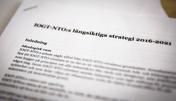Förslaget till ny strategi. Foto: Nathalie C. Andersson