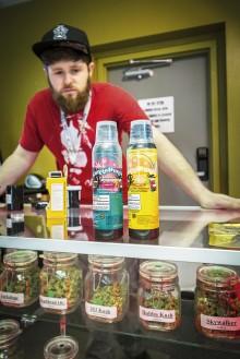 Marijuana säljs även i drickbar form. Foto: Pierre Andersson