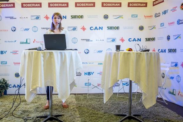 Anna Englind presenterade siffrorna under ett seminarium i Almedalen. Foto: Pierre Andersson