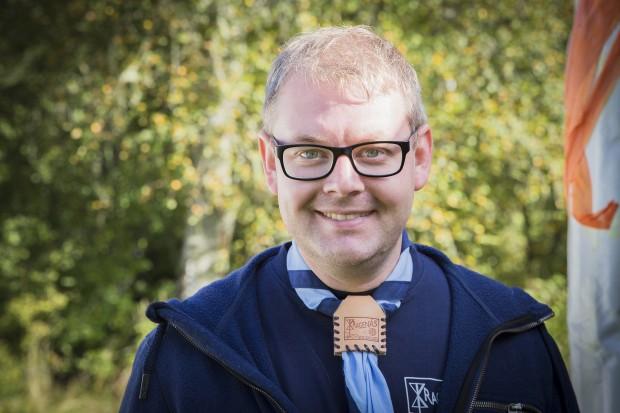 Johan Gustavsson, 33 år, Högsbotorps scoutkår, Göteborg. Foto: Nathalie C. Andersson