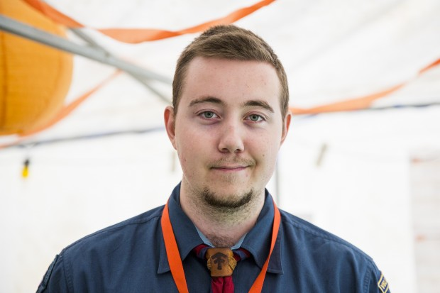 Kevin Wihlborg, 22 år, Vellinge scoutkår, Vellinge. Foto: Nathalie C. Andersson
