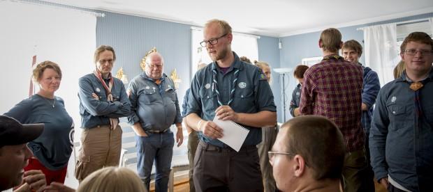 Niklas von Braun leder workshopdiskussionen. Foto: Nathalie C. Andersson