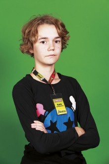 Karin Johansson, juniorreporter. Foto: Torkel Edenborg