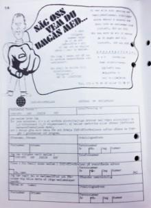 Värvningsuppmaning från distriktstidningen Bladhögen 1977. Foto: Accent