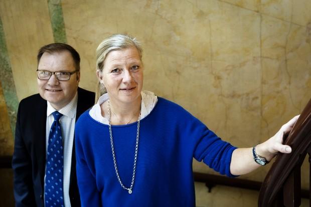 Kristina Axén Olin och Tomas Rudin föreläser tillsammans. Foto: Jonas Eriksson