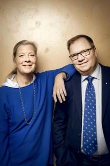 Kristina Axén Olin och Tomas Rudin. Foto: Jonas Eriksson