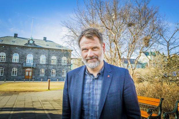 Árni Páll Árnason, partiledare för Socialdemokraterna. Foto: Nathalie C. Andersson